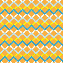 Orange zigzag chevron retro seamless pattern