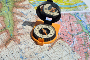 Compass and  maps.
