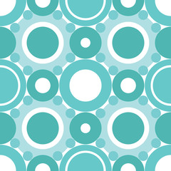 Retro cyan circles seamless patter