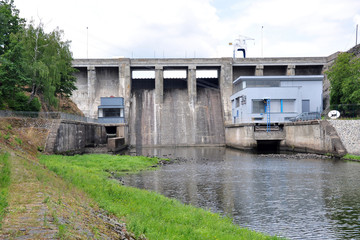concrete dam, in Brno, Czech Republic, Europe