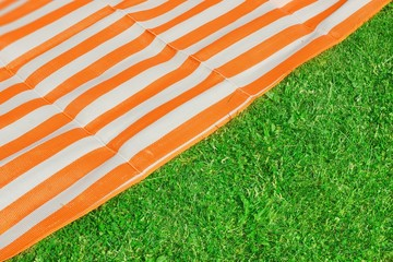 Picnic or Beach mat on the grass