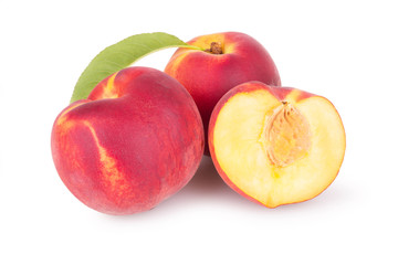 juicy peaches with slice