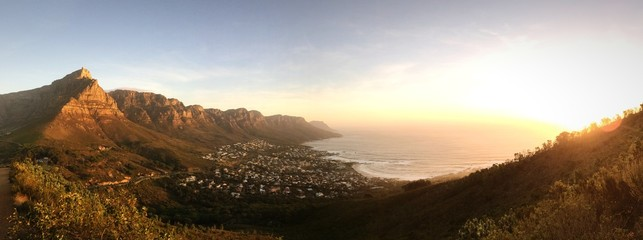 Cape town view from Lions Head Mountain