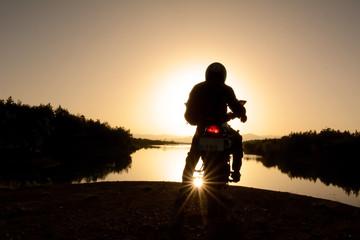 motorsiklet ile doğa turu
