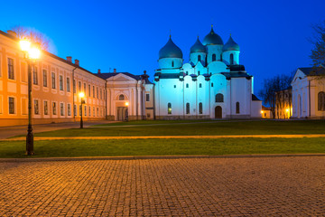 Night Scene Architecture Novgorod Kremlin