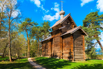 wooden church in the Museum of Wooden Architecture
