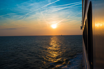 Sunset from a luxury cruise liner