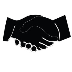 Black icon handshake. Raster