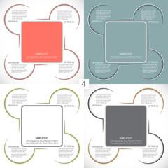 Four templates for your presentation, four option