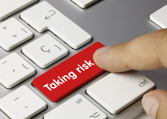 Taking risk. keyboard