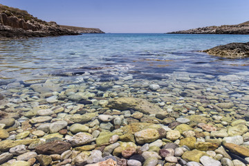 clear water in the sea of Peloponnese
