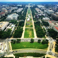 National Mall from top of Washington Monument