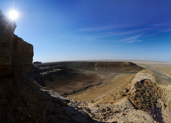Panorama of the plateau Shalkar Nura