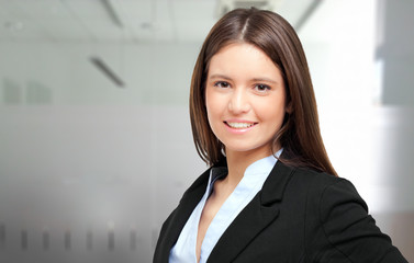 Confident young businesswoman portrait