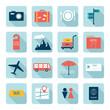 Travel icons, flat design