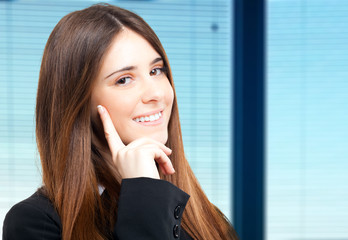 Young businesswoman in a modern office