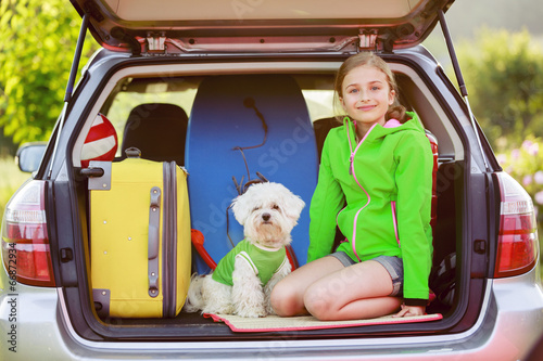 Summer holiday, Travel - family ready for the travel