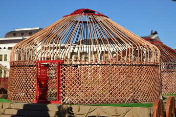 Framework of a traditional Kazakhh tent called YURT