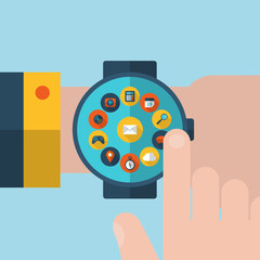 Flat Icons for wearable mobile devices