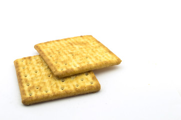 Two Crackers isolate on white background