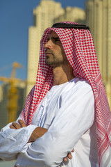 Portrait of the young arabian business man