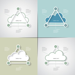 Four templates in a cloud, three option