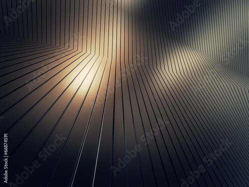 shiny metal plate