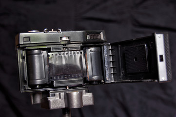 Inside of old film camera, made in USSR