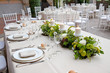A table set for a reception - 66875328