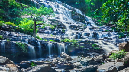 MAEYA Waterfall Famous Cascade Of Chiang Mai, Thailand (repeat)