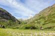 Coppia fa escursionismo in montagna
