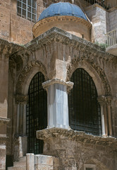 Detail of Church of the Holy Sepulchre in Jerusalem