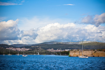 Sibenik bay, Croatia view
