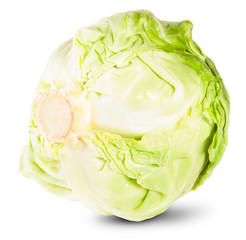 Green Fresh Cabbage Rotated