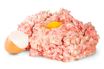 Raw Ground Beef With Egg