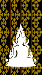 Silhouette of Thai Buddha
