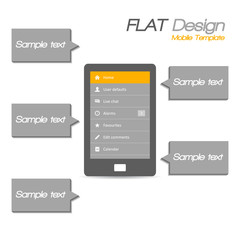 Tablet flat design