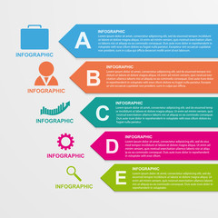 Infographics template in the form of ribbons.