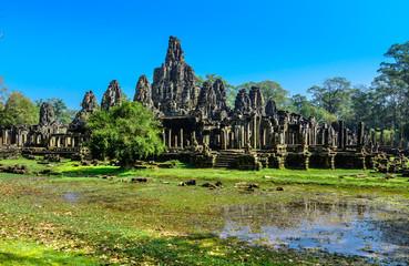 Bayon Temple (Prasat Bayon) at Angkor Thom