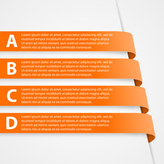 Abstract 3D Ribbons Infographic.