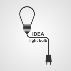 Light Bulb and plug concept.
