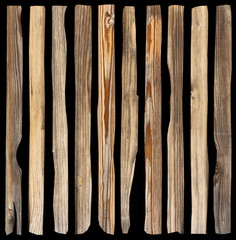 damaged planks on dark background
