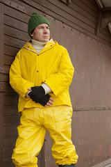 Sea Fisherman In Yellow Overalls