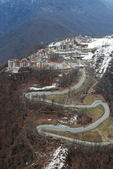 Mountain Olympic village, Sochi, Russia, top view