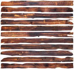 planks over white background