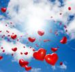 Hochzeit: Herzförmige Luftballons mit vielen lieben Wünschen :)