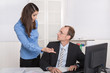 Probleme am Arbeitsplatz unter Mann und Frau