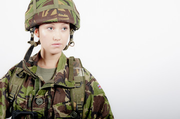 Shell Shocked Army Girl