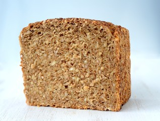Slices of whole wheat bread.