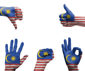 Hand set with the flag of Malaysia